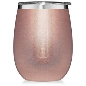 Brumate 14oz Wine Tumbler - Glitter Rose Gold