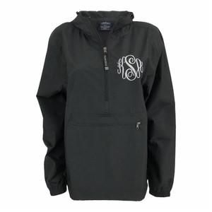 Monogrammed Pullover Rainjacket - Black