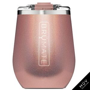 Brumate MuV Wine Tumbler - Glitter Rose Gold