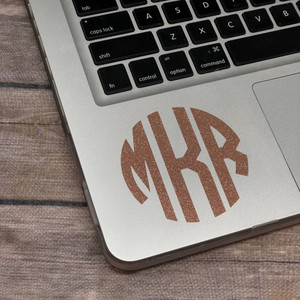 "3"" Vinyl Monogram Decal"
