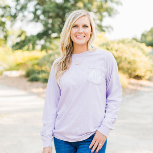 Comfort Colors Long Sleeve - Light Purple