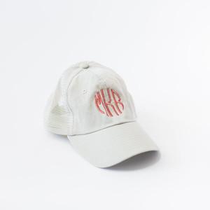 Monogrammed Trucker Hat - Tan