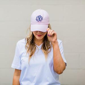 Light Pink Monogrammed Hat