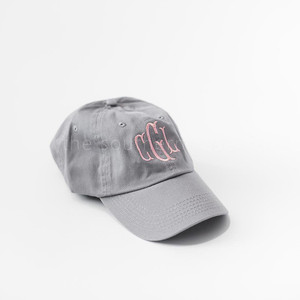 Gray Monogrammed Hat