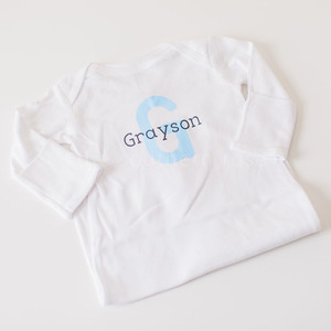 Personalized Infant Layette - Blue