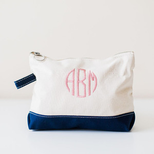 Personalized Cosmetic Bag - Navy