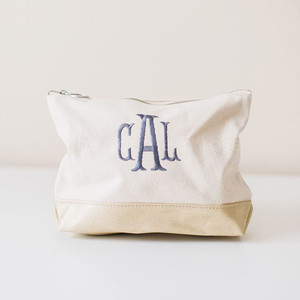 Personalized Cosmetic Bag - Metallic Gold
