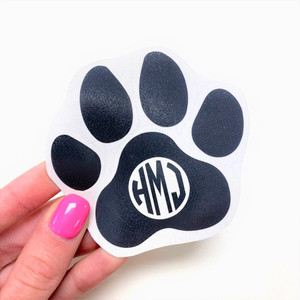 "3"" Paw Monogram Decal"