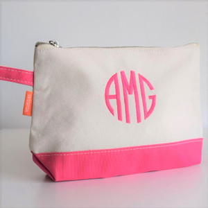 Personalized Cosmetic Bag - Hot Pink