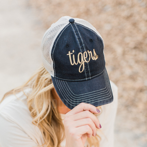 Tigers Black Trucker Hat
