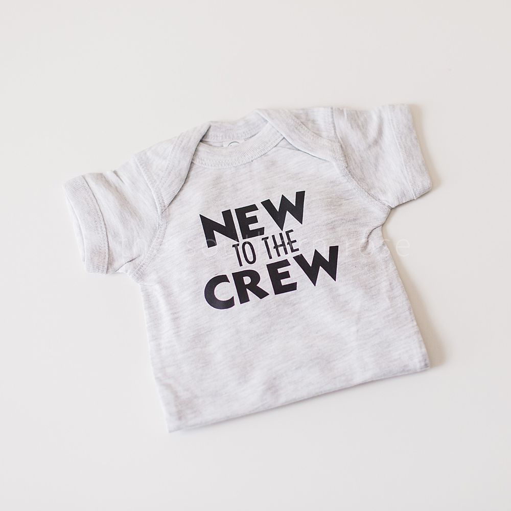 New to the Crew Personalized Onesie