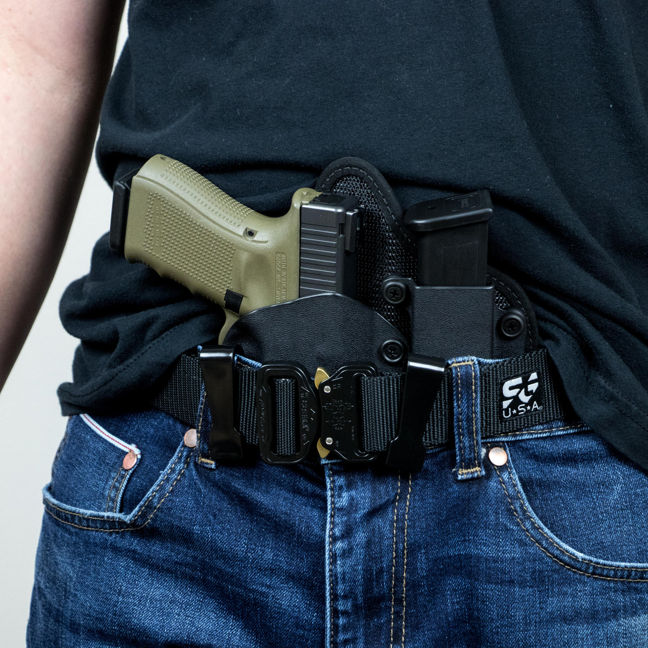 """Hunt Ready Holsters SA XD 9//40 4/"""" LH IWB Holster with Extra Mag Carrier"""
