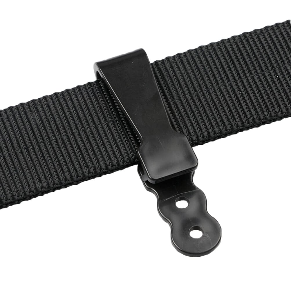 polymer-2-hole-straight-clip-shiny-black-on-belt-clipped.jpg