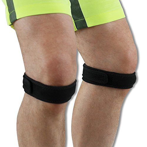 2 x NeoPhysio Magnetic Therapy Patella Tendon Knee Strap, Each Strap Contains 8 Magnets, Pain Relieving - Neo310m
