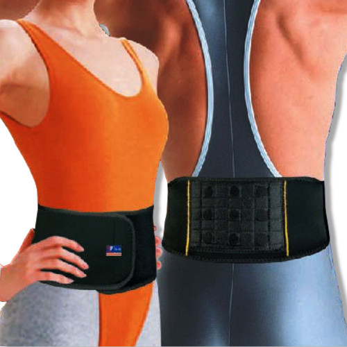 Neoprene Magnetic Therapy Back Support | One Size Lightweight Belt