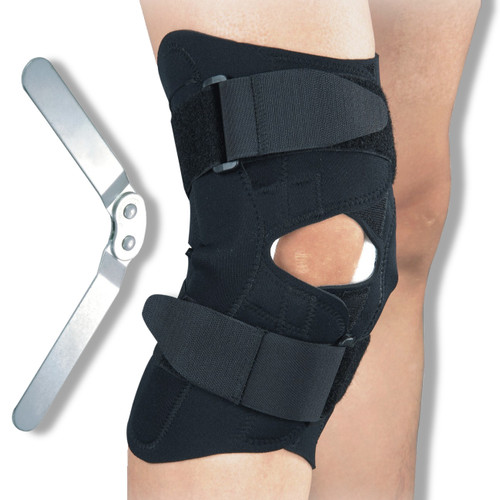 Hinged Knee Brace Open Fronted Design | Medical Grade