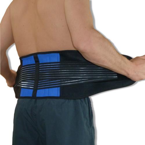 Neoprene Double Pull Lower Back Support Lumbar Brace