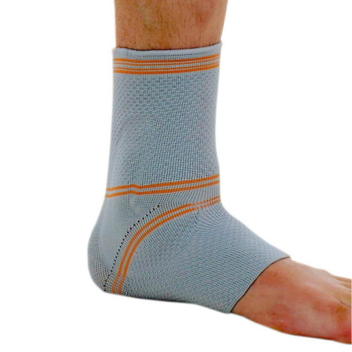 NeoPhysio Adjustable 3D Knitted Breathable Elastic Compression Ankle Support Sleeve with Protective Gel Pad