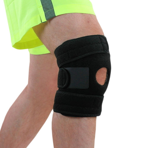 NeoPhysio Adjustable Non-Slip Open-Patella Spiral Knee Wraparound Support Brace, Prevents Injuries and Relieves Pain