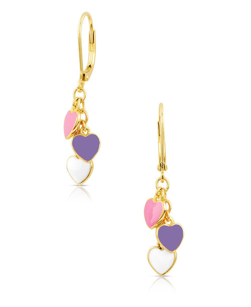 Lily Nily Heart Charms Leverback Earrings
