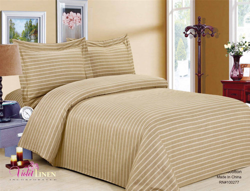 French Mosaic Taupe Linen Set