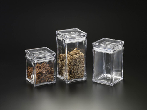Acrylic Square Canister