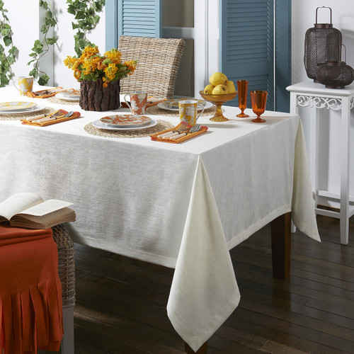 Mode Living Lisbon Tablecloth- White