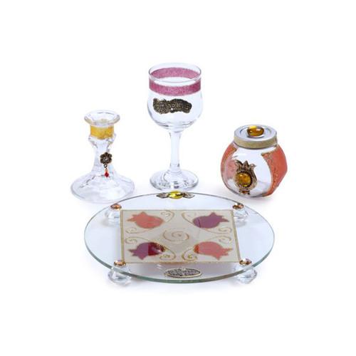 Lily Art Havdalah Set- Red Round Pomegranate (LLA-500616-6)