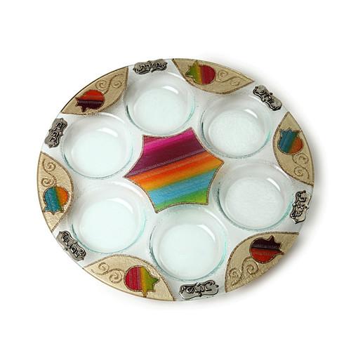 Lily Art Seder Plate- Colored Pomegranate (LLA-501666-34)