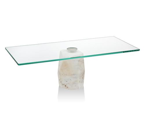 Godinger Agate Cake Stand w/ Glass Plate (70950 )
