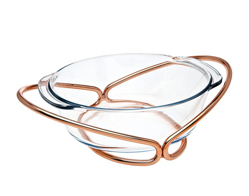 Godinger Round Baker- Copper (84357)