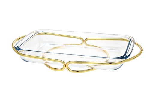 Godinger Rectangular Baker- Gold (84358)