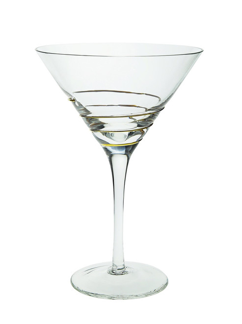Swirl Gold Martini Glasses (Set of 4) (CSMG390)