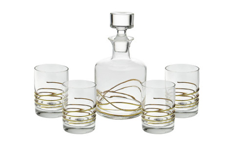 Swirl Gold Liquor Set of 5 (CSLSG392)