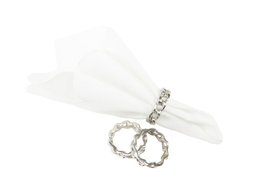 Classic Touch Nickel Napkin Rings (Set of 4)