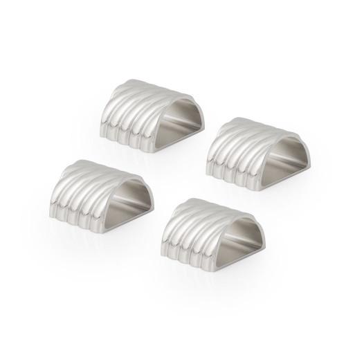 Michael Aram Twist Napkin Ring Silver (Set of 4)