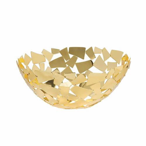 "Golden Facets Round Basket 11"""
