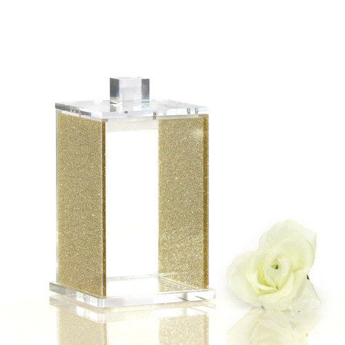 Gold Glitter Lucite Canister
