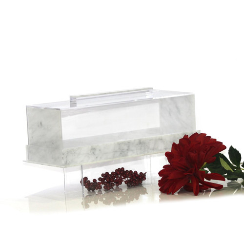 Lucite Cake Dome Log  with Footed Base