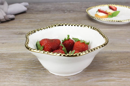 Golden Salerno Medium Bowl