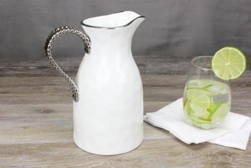 Porcelain Water Pitcher with Titanium Handle