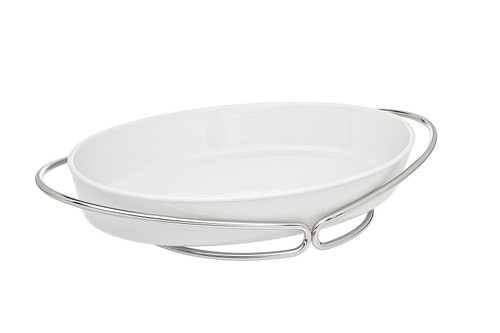 Infinity Nickel-Porcelain Oval Baker