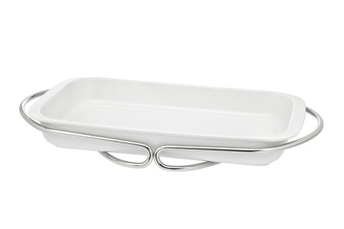 Infinity Nickel-Porcelain Rectangular Baker