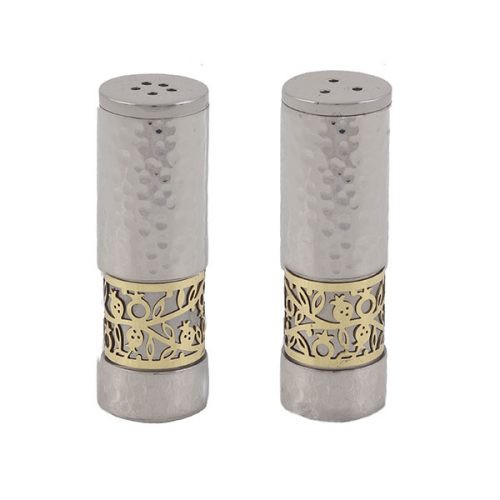 Emanuel Salt & Pepper Shakers with Metal Cutout