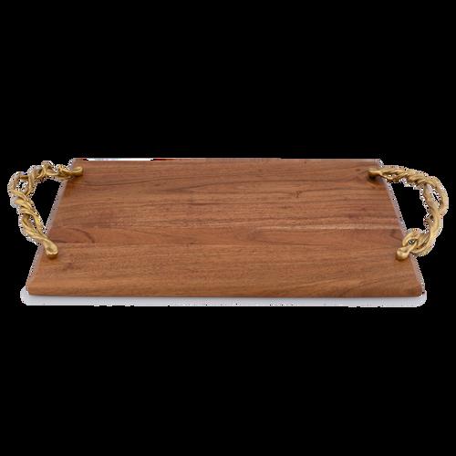 Wisteria Gold Wood Challah Board
