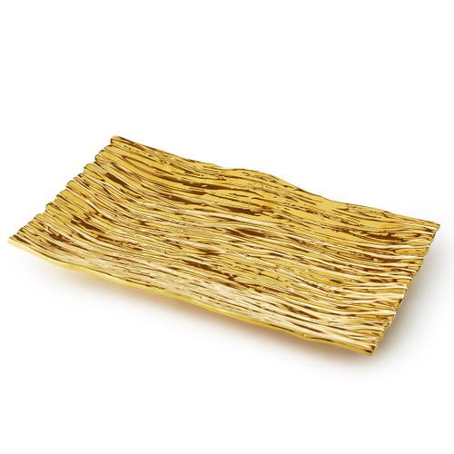 Gold Tree Bark Tray