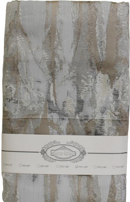 Jacquard Tablecloth Ivory/Grey/Gold