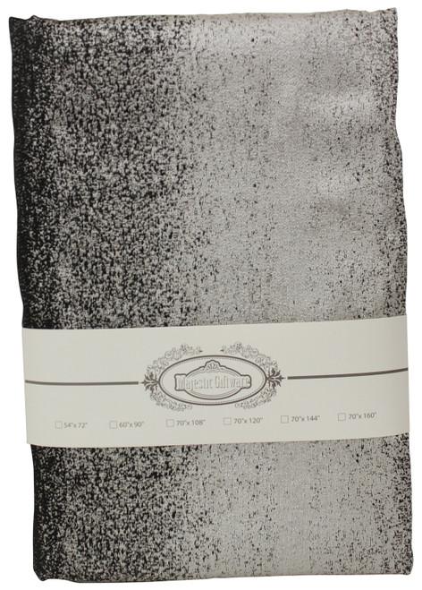 Jacquard Tablecloth Black/Silver