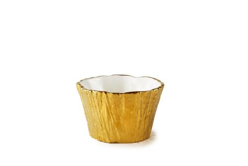 Gold Tree Bark Bowl, 16 oz
