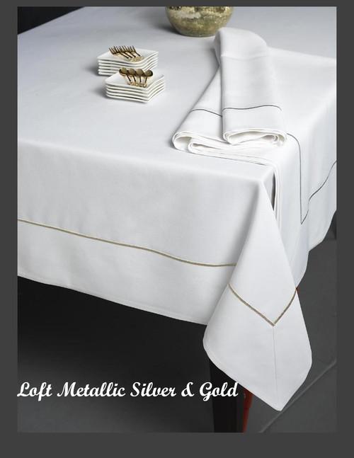 Metallic Stitch Gold Loft Tablecloth